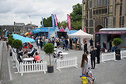 Adnams pop-up bar at Norwich Food & Drink Festival taking place in and around The Forum, 17 June 2018. Norwich UK