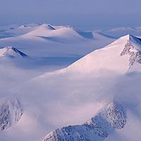 The United States Range rises in Ellesmere Island National Park Reserve.