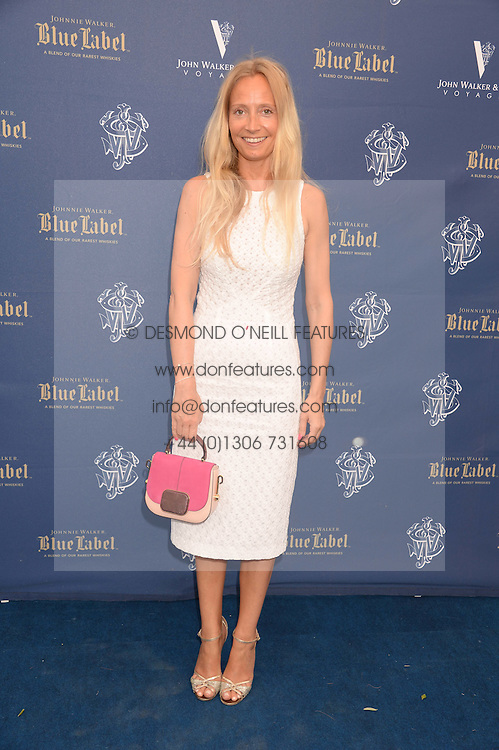 The Johnnie Walker Blue Label and David Gandy Drinks Reception aboard John Walker & Sons Voyager, St.Georges Stairs Tier, Butler's Wharf Pier, London, UK on 16th July 2013.<br /> Picture Shows:-Martha Ward.