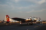 Aluminum Overcast with the restored nose of Lacey Lady.