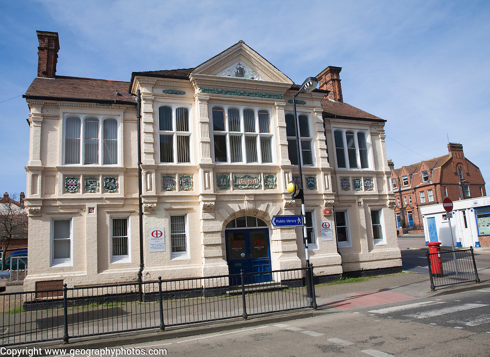 The original Victorian town hall building at Cromer, Norfolk, England built in 1890 in Queen Anne style