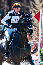 March 22, 2019 - Raeford, North Carolina, US - March 23, 2019 - Raeford, N.C., USA - LIZ HALLIDAY-SHARP of the United States riding FERNHILL BY NIGHT competes in the cross country CCI-4S division at the sixth annual Cloud 11-Gavilan North LLC Carolina International CCI and Horse Trial, at Carolina Horse Park. The Carolina International CCI and Horse Trial is one of North AmericaÃ•s premier eventing competitions for national and international eventing combinations, hosting International competition at the CCI2*-S through CCI4*-S levels and National levels of Training through Advanced. (Credit Image: © Timothy L. Hale/ZUMA Wire)