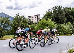 11.07.2019, Kitzbühel, AUT, Ö-Tour, Österreich Radrundfahrt, 5. Etappe, von Bruck an der Glocknerstraße nach Kitzbühel (161,9 km), im Bild die Ausreisser in St. Getraudi, Tirol // the attackers at St. Getraudi Tyrol during 5th stage from Bruck an der Glocknerstraße to Kitzbühel (161,9 km) of the 2019 Tour of Austria. Kitzbühel, Austria on 2019/07/11. EXPA Pictures © 2019, PhotoCredit: EXPA/ Reinhard Eisenbauer