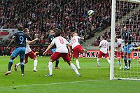 Football - World Cup 2014 Qualifier - Poland vs. England<br /> Wayne Rooney of England opens the scoring with a headed goal at the National Stadium, Warsaw