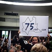 Lega Nord © Flavio Gilardoni-EffeEmmE<br /> <br /> 03/02/2013 Presentazione dei candidati lombardi della Lega Nord al Teatro Nazionale di Piazza San Babila a Milano.<br /> <br /> Lega Nord party show his candidates of Lombardy.