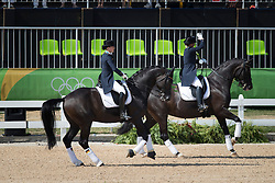 Werth Isabell, GER, Weihegold Old, Broring-Sprehe Kristina, GER, Desperados<br /> Olympic Games Rio 2016<br /> © Hippo Foto - Dirk Caremans<br /> 15/08/16