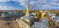 Aerial view of Kostroma center, Russia