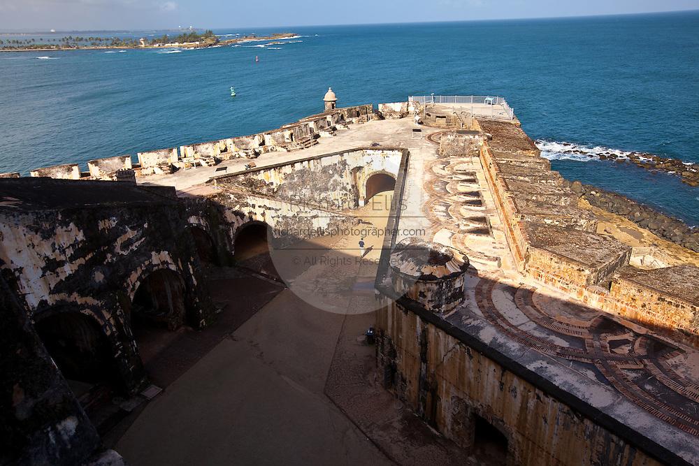 Overview of El Morro Fortress Old San Juan, Puerto Rico.