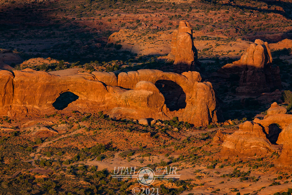 North & South Window Arches in Arches National Park