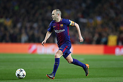 March 14, 2018 - Barcelona, Spain - ANDRES INIESTA of FC Barcelona during the UEFA Champions League, round of 16, 2nd leg football match between FC Barcelona and Chelsea FC on March 14, 2018 at Camp Nou stadium in Barcelona, Spain (Credit Image: © Manuel Blondeau via ZUMA Wire)