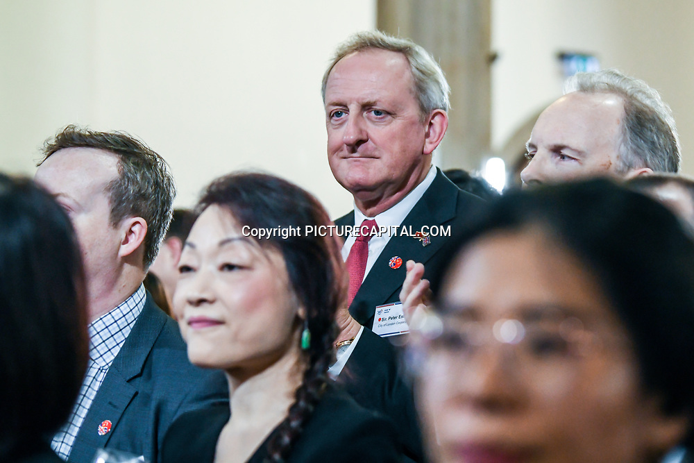 Peter Estlin formal London Mayor attend China-UK United We Stand together to fights the #Covid19 at Guildhall, on 28th February 2020, London, UK.