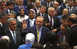 September 6, 2017 - Ankara, Türkiye - Turkey President Recep Tayyip Erdogan delivers a speech at Justice and Development Party's (AK Party) Provincial Heads meeting at Ankara, September 6th, 2017 (Credit Image: © Depo Photos via ZUMA Wire)