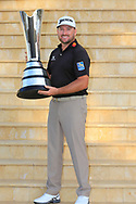 Graeme McDowell (NIR) holds the trophy after the final round of  the Saudi International powered by Softbank Investment Advisers, Royal Greens G&CC, King Abdullah Economic City,  Saudi Arabia. 03/02/2020<br /> Picture: Golffile   Fran Caffrey<br /> <br /> <br /> All photo usage must carry mandatory copyright credit (© Golffile   Fran Caffrey)