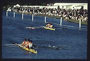 Henley on Thames. United Kingdom. Final Stewards' Challenge Cup<br /> winners, Star Club & Leander Club 'A' 2nd Star Club & Leander Club 'B.<br /> Star A Left to right, Martin CROSS, Peter MULKERRINS, Matt PINSENT and Tim FOSTER, 1990 Henley Royal Regatta, Henley Reach, River Thames. 06/07.1990<br /> <br /> [Mandatory Credit; Peter SPURRIER/Intersport Images] 1990 Henley Royal Regatta. Henley. UK