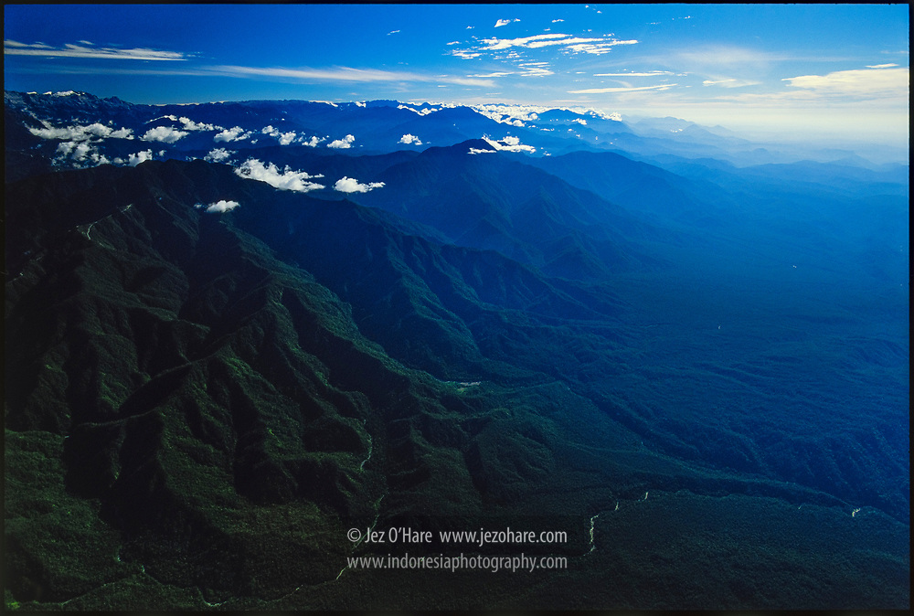 Puncak Jaya glaciers 4880m & Lorentz National Park, Papua, Indonesia.