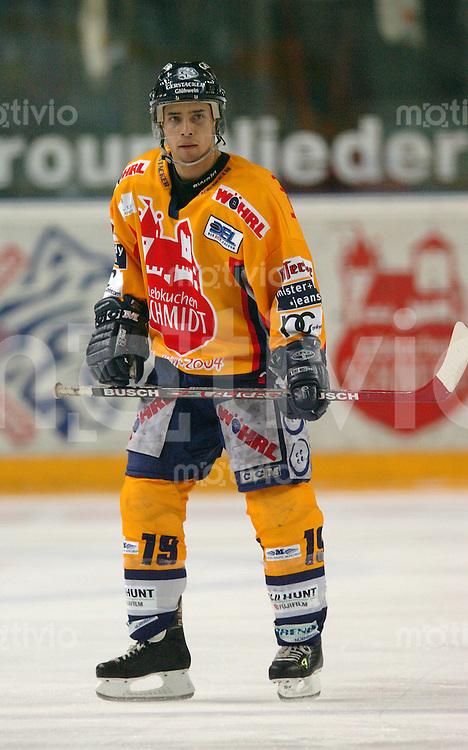 Eishockey, 1.Playoff-Viertelfinale, DEL 2003/2004, Arena Nuernberg (Germany) Nuernberg Ice Tigers - Ingolstadt Panthers (2:1 n.P.) Greg Leeb (IceTigers)