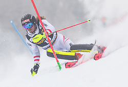 Manuel Feller (AUT) during 1st run of Men's Slalom race of FIS Alpine Ski World Cup 57th Vitranc Cup 2018, on March 4, 2018 in Kranjska Gora, Slovenia. Photo by Urban Meglič / Sportida