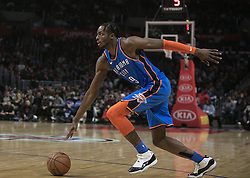 March 8, 2019 - Los Angeles, California, United States of America - Jerami Grant #9 of the Oklahoma Thunder with the ball during their NBA game with the Los Angeles Clippers on Friday March 8, 2019 at the Staples Center in Los Angeles, California. Clippers defeat Thunder, 118-110.  JAVIER ROJAS/PI (Credit Image: © Prensa Internacional via ZUMA Wire)