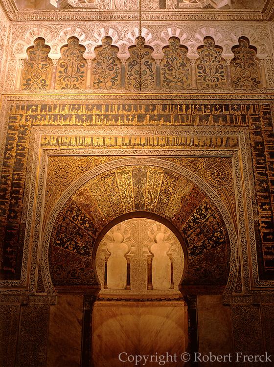 SPAIN, CORDOBA 'La Mezquita', Great Mosque, Mihrab