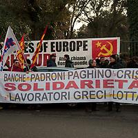 Manifestazione di solidarietà con il popolo greco