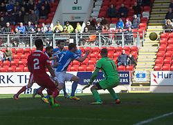 St Johnstone 1 v 2 Aberdeen. SPFL Ladbrokes Premiership game played 15/4/2017 at St Johnstone's home ground, McDiarmid Park.
