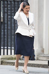 Downing Street,  London, June 27th 2015. Employment Minister Priti Patel leaves the first post-Brexit cabinet meeting at 10 Downing Street.