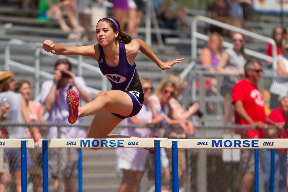 girls 100 meter hurdles, Maine State Track & FIeld Meet - Class B