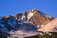 14,255 ft. Longs Peak.  Rocky Mountain National Park, Colorado.