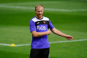 Robbie Simpson (8) of Exeter City warming up before the EFL Sky Bet League 2 match between Exeter City and Lincoln City at St James' Park, Exeter, England on 19 August 2017. Photo by Graham Hunt.