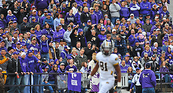 Nov 14, 2009; Manhattan, KS, USA; The various crowd shows their reaction to Missouri wide receiver Danario Alexander's (81) touchdown in the first half against the Kansas State Wildcats at Bill Snyder Family Stadium. The Tigers won 38-12. Mandatory Credit: Denny Medley-US PRESSWIRE