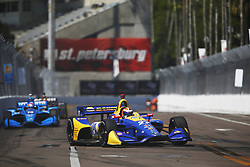 March 11, 2018 - St. Petersburg, Florida, United States of America - March 11, 2018 - St. Petersburg, Florida, USA: Alexander Rossi (27) battles for position during the Firestone Grand Prix of St. Petersburg at Streets of St. Petersburg in St. Petersburg, Florida. (Credit Image: © Justin R. Noe Asp Inc/ASP via ZUMA Wire)