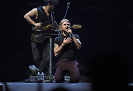 Walk the Moon singer Nicholas Petricca performs April 8, 2019, at Madison Square Garden in New York City. (Photo by Matt Smith)