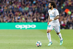May 6, 2018 - Barcelona, Catalonia, Spain - Real Madrid defender Marcelo (12) during the match between FC Barcelona v Real Madrid, for the round 36 of the Liga Santander, played at Camp nou  on 6th May 2018 in Barcelona, Spain. (Credit Image: © Urbanandsport/NurPhoto via ZUMA Press)