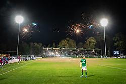 Fireworks at Fazanerija during football match between NS Mura and NK Olimpija in 15th Round of Prva liga Telekom Slovenije 2019/20, on November 3, 2019 in Fazanarija Stadium, Murska Sobota, Slovenia. Photo by Blaz Weindorfer / Sportida