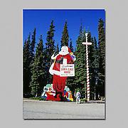 Alaska. North Pole. Santa Claus house where it is Christmas year round.