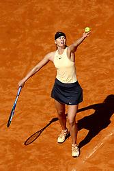 May 18, 2018 - Rome, Italy - Maria Sharapova (RUS) at Foro Italico in Rome, Italy during Tennis WTA Internazionali d'Italia BNL quarter-finals on May 18, 2018. (Credit Image: © Matteo Ciambelli/NurPhoto via ZUMA Press)
