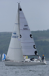 Day 2 Sailing, SCOTLAND<br /> <br />  Class 10, Synergie, Dufour 40, GBR5115C<br /> <br /> The Scottish Series, hosted by the Clyde Cruising Club is an annual series of races for sailing yachts held each spring. Normally held in Loch Fyne the event moved to three Clyde locations due to current restrictions. <br /> <br /> Light winds did not deter the racing taking place at East Patch, Inverkip and off Largs over the bank holiday weekend 28-30 May. <br /> <br /> Image Credit : Marc Turner / CCC