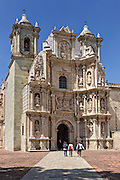 The Basilica of Our Lady of Solitude church in Oaxaca, Mexico.