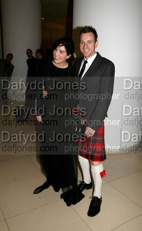 Sharleen Spiteri and Ewan McGregor attend Not Another Burns night. St. Martin's Lane Hotel.  Monday 3rd March 2008.<br /><br /> *** Local Caption *** -DO NOT ARCHIVE-© Copyright Photograph by Dafydd Jones. 248 Clapham Rd. London SW9 0PZ. Tel 0207 820 0771. www.dafjones.com.