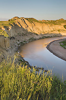 Evening light over the Little Missouri River, Theodore Rossevelt National Park, North Dakota