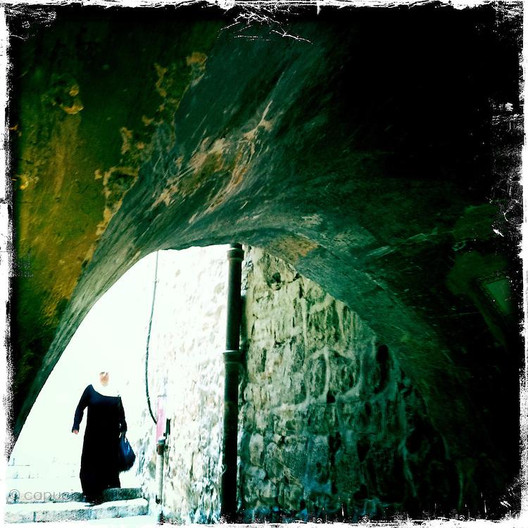 Jerusalem, Israel. September 24th 2011.A street scene in the historical old city..
