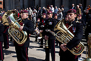 St. George's Day Parade, London. This has not taken place in the city since 1585, so is a tradition revived in 2010. Members of the Parachute Regiment Band.