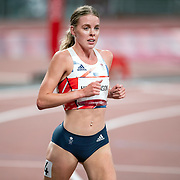 TOKYO, JAPAN August 3: Silver medal winner Keely Hodgkinson of Great Britain after the Women's 800m Final at the Olympic Stadium during the Tokyo 2020 Summer Olympic Games on August 3rd, 2021 in Tokyo, Japan. (Photo by Tim Clayton/Corbis via Getty Images)