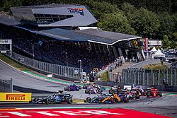 30.06.2019, Red Bull Ring, Spielberg, AUT, FIA, Formel 1, Grosser Preis von Österreich, Rennen, im Bild v.l.: Valtteri Bottas (FIN, Mercedes), Lewis Hamilton (GBR, Mercedes) // f.l.: Finnish Formula One driver Valtteri Bottas of Mercedes British Formula One driver Lewis Hamilton of Mercedes during the race for the Austrian FIA Formula One Grand Prix at the Red Bull Ring in Spielberg, Austria on 2019/06/30. EXPA Pictures © 2019, PhotoCredit: EXPA/ Dominik Angerer