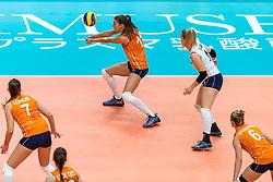 19-10-2018 JPN: Semi Final World Championship Volleyball Women day 20, Yokohama<br /> Serbia - Netherlands / Anne Buijs #11 of Netherlands