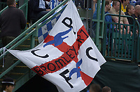 Fotball<br /> England 2004/2005<br /> Foto: SBI/Digitalsport<br /> NORWAY ONLY<br /> <br /> Brighton and Hove Albion v Ipswich Town, Coca-Cola Championship, 08/05/2005<br /> <br /> A Crystal Palace flag at the game. Will they meet next season?