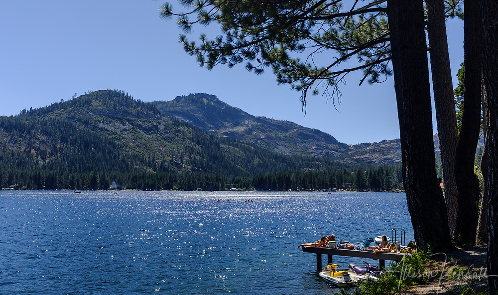 Views of Donner Lake and Donner Pass in Nevada County, California