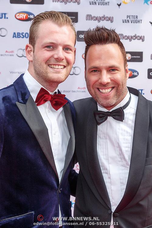 NLD/Amsterdam/20150629 - Uitreiking Rainbow Awards 2015, Barry Paff en ...........