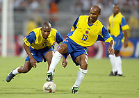 FOOTBALL - CONFEDERATIONS CUP 2003 - GROUP A - 030618 - FRANKRIKE v COLOMBIA - RUBEN VELASQUEZ (COL) - PHOTO JEAN MARIE HERVIO / DIGITALSPORT