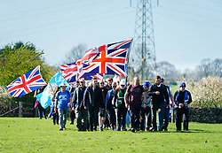 March 27, 2019 - Stockholm, Great Britain - 'March to Leave', in the County of Rutland in England. The protest march for Brexit goes from  Sunderland in northeast England to London where they will arrive 29 March (Credit Image: © Van Den Berg Peter/Aftonbladet/IBL via ZUMA Wire)
